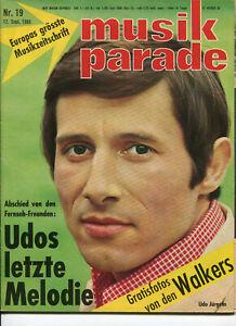 Beat Magazin: musik parade 1966, Nr.19, 12.9.66 Deutsche Musikzeitschrift  60er