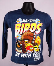 Angry Birds Star Wars Shirt Boys Medium Blue Long Sleeve Graphic Shirt New ST152
