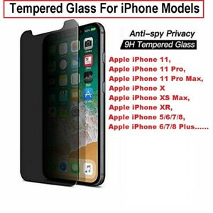 PRIVACY FULL COVER TEMPERED GLASS Screen Protector for iPhone 11 12 13 Pro MAX