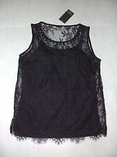 Liz Jordan: 2 Piece: Size: S.(10-12)  Black Lace Top & Black Adjustable Singlet