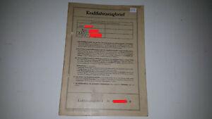 Fahrzeugbrief KFZ Brief 1970 Fiat 128 A , 1108ccm 55PS f. Sammler Sammlung