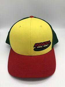 Innova Disc Golf Cap Hat Mesh Adjustable SnapBack Colorful Red Yellow Green
