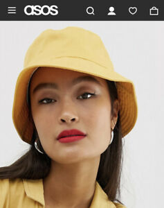 ASOS DESIGN mustard cotton bucket hat
