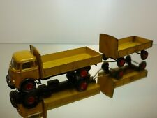 LION CAR 23 DAF A50 KIKKER TRUCK + TRAILER  YELLOW 1:50 - GOOD + NICE CONDITION