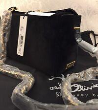 Alice Olivia Collette Mini Crossbody Bag Black Velvet