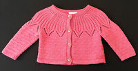Baby Girl - NEXT - Pink - Knitted Cardigan - Age 3-6 Months