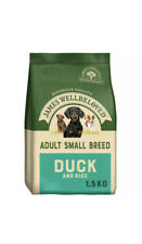 1.5kg James Wellbeloved Adult Small Breed Dry Dog Food Duck & Rice