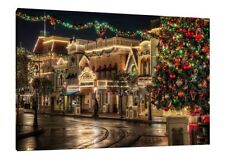 30x20 Inch Christmas Scene Canvas - Xmas Framed Picture Print