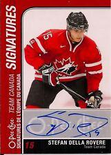 Stefan Della Rovere 2011-12 O-Pee-Chee Team Canada Signatures Auto-Blues RW
