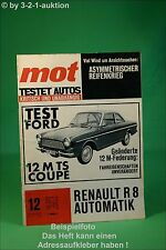 MOT 12/64 Ford 12MTS Coupe Renault R8 Trabant