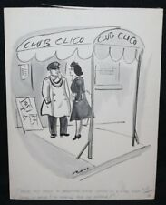 I'm trying to find my husband!'' Humorama Gag - Signed art by Al Ross Comic Art