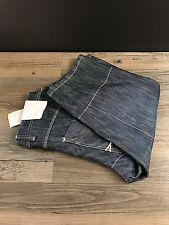 Denim & Co. NWT Men's Blue Cargo Combat 3/4 Length Jeans Size Waist 30 Leg 18