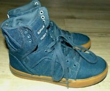 Youth Boy's Size 2 Supra Muska Skytop Navy Blue Justin Beiber Lace Up Sneakers