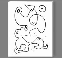 Abstract Art Painting Drawing on Canvas or Photo Print Picasso Classic Modern