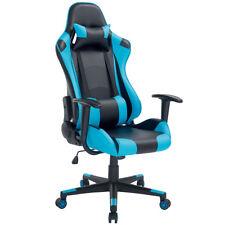 Sedia Poltrona Gaming Scrivana Ufficio Casa Reclinabile Girevole Direzionale Blu