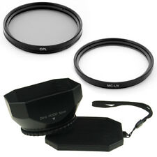 52mm Lens Hood + CPL + UV Filters for AF-S DX Nikkor 18-55mm,AF-S 55-200mm Nikon
