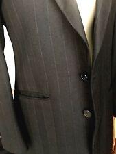 Vintage pinstripe suit Field Brothers/Tallia charcoal/lavender 100% wool 38R