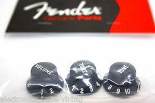 GENUINE FENDER BLACK KNOBS FOR STRATOCASTER - 0991365000