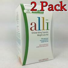 Alli Orlistat 60mg Capsules Weight Loss Aid 120ct, 2 Pack 353100469254G5504