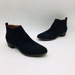 Lucky Brand Women's Bimare Ankle Bootie Size 13M Black Croco Suede