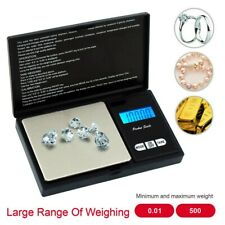 Mini Pocket Stainless Steel Digital Jewelry Gold Weighing Scales 500g/0.01g Tool