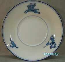 Table Top Company Porcelain China SAUCER Japan Blue & White Indian Hunting Deer