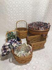 Longaberger 5 Tea Teaspoon Petunia Saffron Tarragon Baskets-9 Liners Paprika