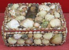 jolie et ancienne boîte coquillage, souvenir de bord de mer kitch