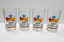 Collectible Lot of 4 Vintage 1980s F&N Fraser & Neave SAF Drinking Glasses Rare