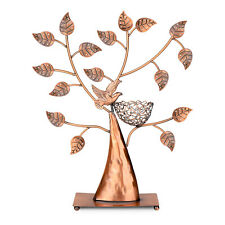 Jewelry Display Stand, Earring Necklace Holder Tree Tower Organizer (Bronze)