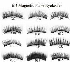 SKONHED 4Pcs Triple Handmade Magnetic Lashes Thick False Eyelashes Full Coverage