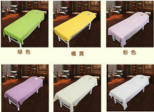 4 Sizes Spa Massage Table Coverlet Comfort Polyester Bed Sheet Cradle Cover DY