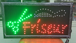 LED SCHILD LEUCHTSCHILD LEUCHTREKLAME WERBUNG Friseur 48x25 NEU