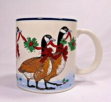 Vintage 1990s Potpourri Press Canada goose Christmas coffee mug