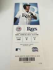 R.A. Dickey Shutout 2 Hit Win Lind HR June 26 2013 6/26/13 Rays Jays Full Ticket