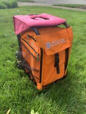 Zuca Rainbo Sport Black Frame Orange Bag Pink Seat Light-Up Wheels