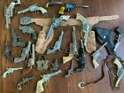 large lot antique toy western cap guns holsters lone ranger die cast collection