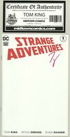 Strange Adventures #1 SIGNED by Tom King BLANK COVER with COA * GEMINI SHIPPING
