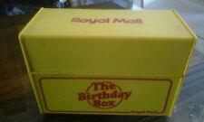ROYAL MAIL BIRTHDAY BOX YELLOW AND RED VINTAGE RETRO 70'S 80'S