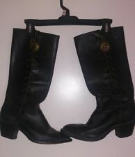 Vintage Harley-Davidson SeXy Tall Side Lace Western Boots Size 8 made in usa j74