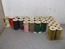 """28 Spools of Assorted 3/16"""" Cotton Tape"""