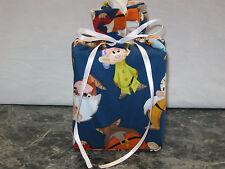 Disney Seven Dwarfs on cotton Fabric Handmade Square Tissue Box Cover, gift bag