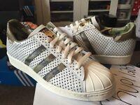 new styles b8013 149aa Adidas Superstar 80s Quickstrike QS White Green Camo Gold Black Q16292  Primeknit