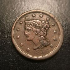 1853 Braided Hair Large Cent XF Extremely Fine Coronet Late Date Newcomb EAC