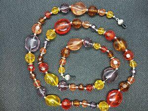 Eyeglass Sun Glass Leash Holder Chain - Colorful Acrylic Juice Beads Bold Design