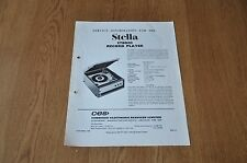 Stella ST8003  Record Players Workshop Service Manual