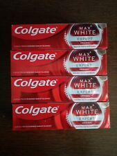 4 Tubes Of Colgate Toothpaste Max White EXPERT
