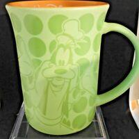 Walt Disney World Goofy Green Polka Dot Mug Orange Disney Parks Collectible Rare