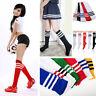 Les Femmes Football Baseball Sport sur genou chaussettes rayées cuisse haute