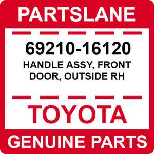 69210-16120 Toyota OEM Genuine HANDLE ASSY, FRONT DOOR, OUTSIDE RH